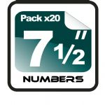 "7.5"" Race Numbers - 20 pack"